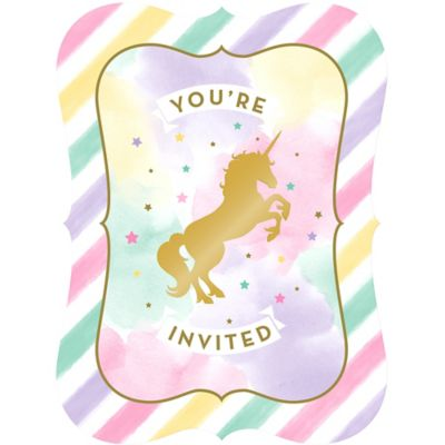 CLASSY GLAMOROUS PARTY INVITATION UNICORN BIRTHDAY