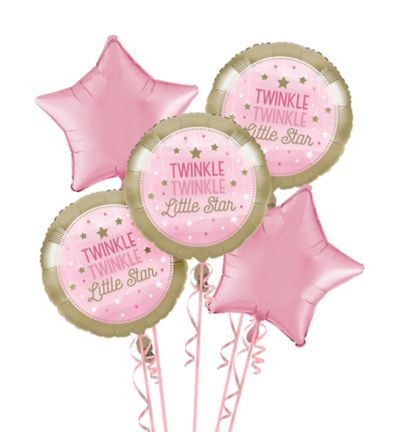 Twinkle Twinkle Little Star Decor It/'s a Girl Baby Shower Confetti Balloon Pink- 12 inch Paper Rabbit- Pink Birthday Decor