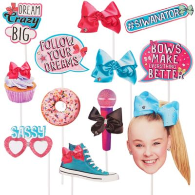 Jojo Siwa Photo Booth Props 12pc Party City