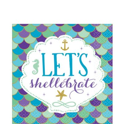 Wishful Mermaid Lunch Napkins 16ct | Party City