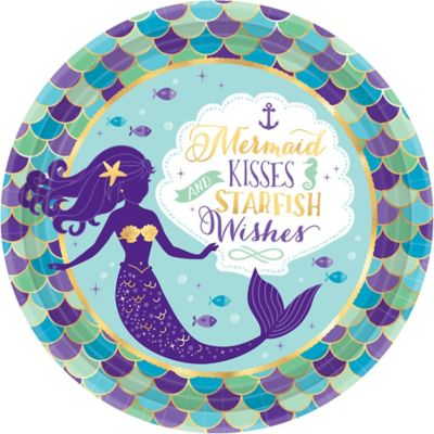 sc 1 st  Party City & Wishful Mermaid Lunch Plates 8ct | Party City Canada