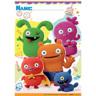 These UglyDolls Favor Bags feature Moxy, Ox, Wage, Lucky ...