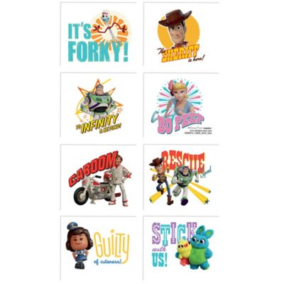 Toy Story 4 Tattoos 1 Sheet | Party City
