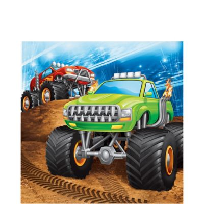 Monster Truck Lunch Napkins 16ct Party City