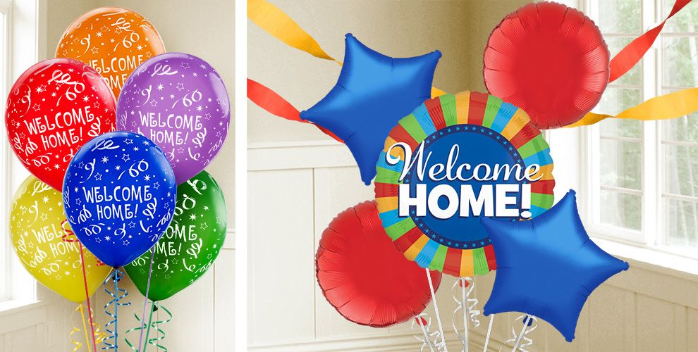 Welcome home balloons party city for Welcome home decorations for baby