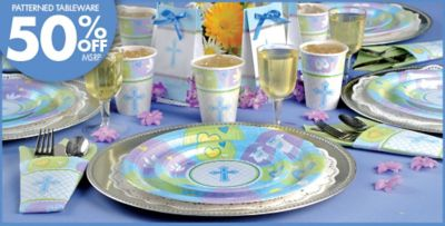 Blue Sweet Religious Party Supplies & Blue Sweet Religious Party Supplies | Party City