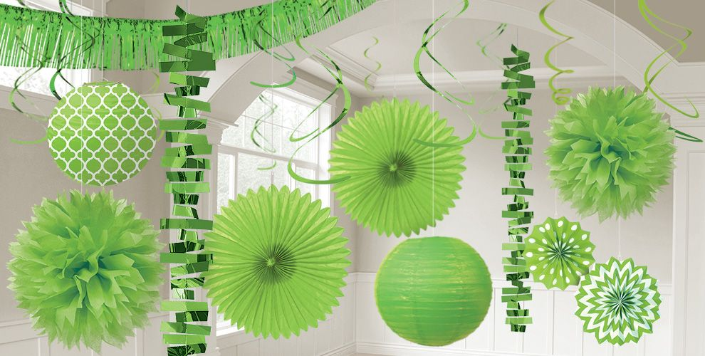 Kiwi Green Decorations