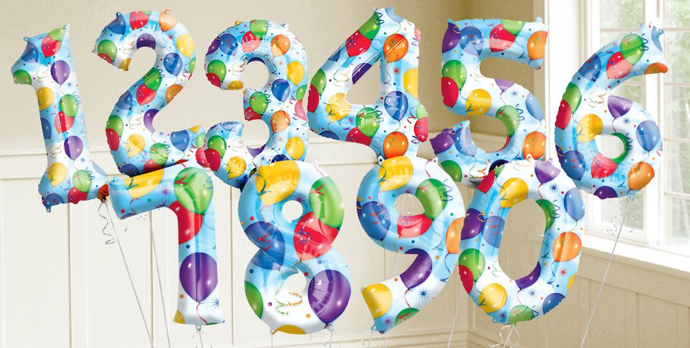 Giant Celebration Number Balloons