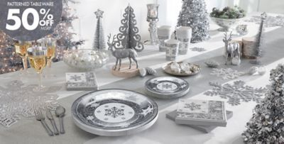Sparkling Snowflake Christmas Party Supplies & Sparkling Snowflake Party Supplies | Party City