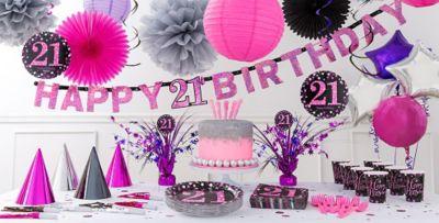 Pink Sparkling Celebration 21st Birthday Party