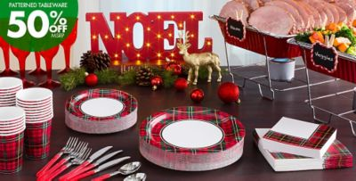 Holiday Charm Party Supplies & Holiday Plaid Party Supplies | Party City