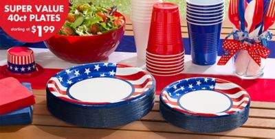 American Flag Party Supplies & American Flag Party Supplies - American Flag Decorations \u0026 Tableware ...