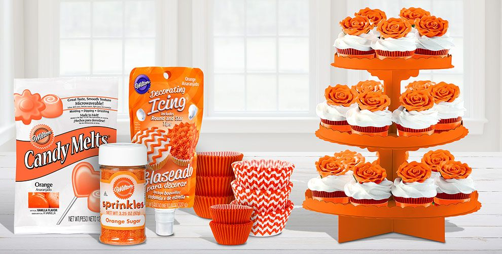 Orange Baking Supplies