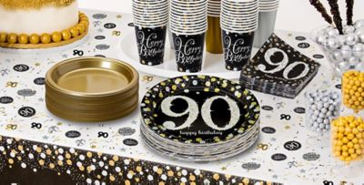 Sparkling Celebration 90th Birthday Party Supplies ... & Sparkling Celebration 90th Birthday Party Supplies | Party City