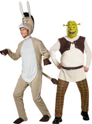 sc 1 st  Party City & Adult Shrek u0026 Donkey Couples Costumes | Party City Canada