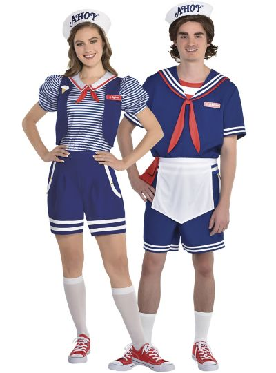 Robin and Steve Scoops Ahoy Couples Costumes