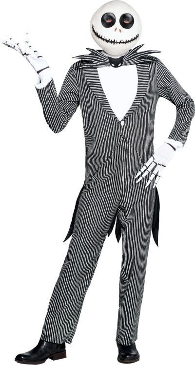 Adult Pinstripe Jack Skellington Costume - The Nightmare ...