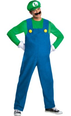 sc 1 st  Party City & Adult Luigi Costume Premium - Super Mario Brothers | Party City