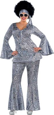 Adult Dancing Queen Disco Costume Plus Size | Party City