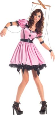 sc 1 st  Party City & Adult Pink Marionette Costume | Party City