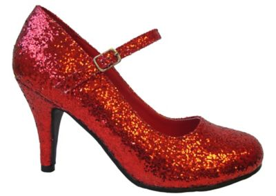 ff4bcb732065 Skylar Pointed Toe Red Glitter High Heels