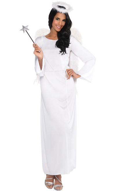 Heaven Sent Angel Christmas White Womens Ladies Adults Fancy Dress Costume