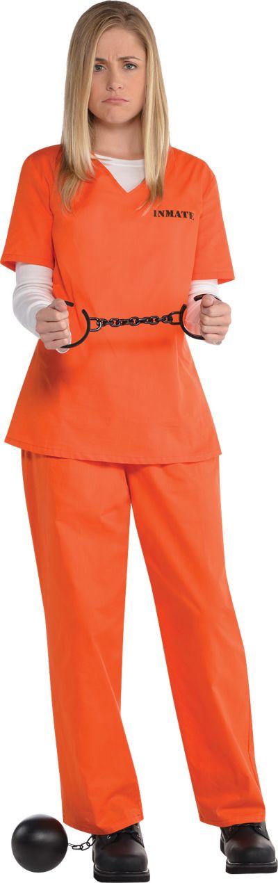Adult Orange Prisoner Costume Party City