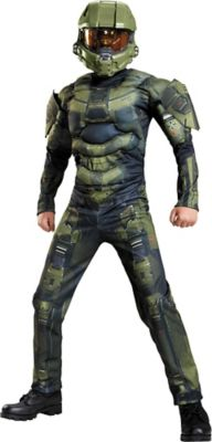 sc 1 st  Party City & Boys Master Chief Muscle Costume Classic - Halo | Party City