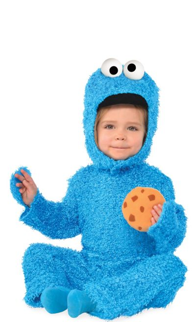 This Cookie Monster costume includes a plush long sleeve jumpsuit and Costumes For All Occasions DgW Cookie Monster Deluxe Mon. by Unknown. $ $ 37 Cookie Monster Bib & Hat Baby Infant Costume - Newborn. by Disguise. $ $ 7 31 Add-on Item. FREE Shipping on eligible orders.