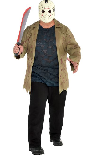 Adult Jason Voorhees Costume Plus Size Friday The 13th