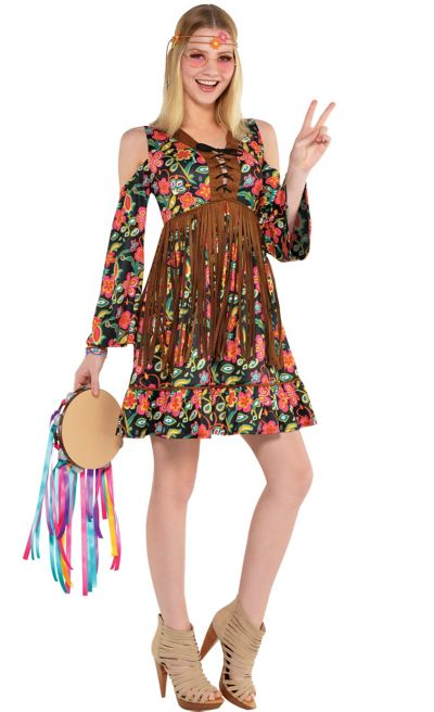 adult flower power hippie costume party city. Black Bedroom Furniture Sets. Home Design Ideas