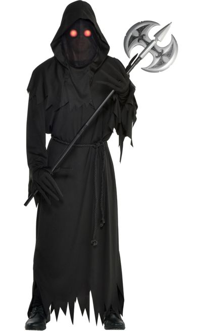 1ca0f944 Mens Light-Up Glaring Grim Reaper Costume | Party City