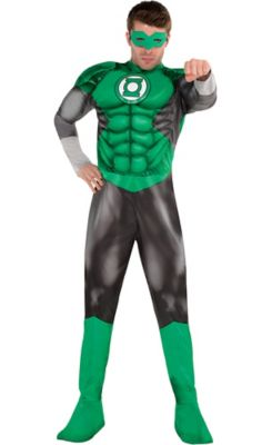 sc 1 st  Party City & Adult Green Lantern Muscle Costume - DC Comics New 52 | Party City