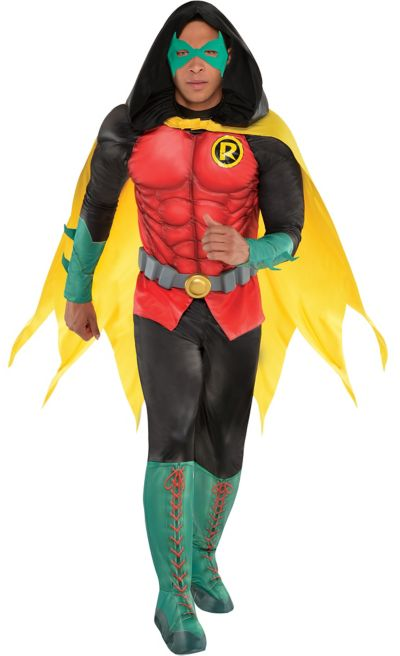 Adult Robin Muscle Costume - DC Comics New 52   Party City