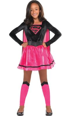 sc 1 st  Party City & Girls Pink Supergirl Dress Costume - Superman | Party City Canada