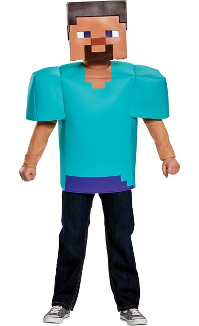 Boys Steve Costume - Minecraft | Party CitySteve Minecraft Costume Party City