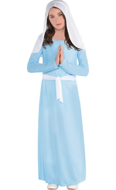 Girls Light Blue Virgin Mary Costume  Party City Canada-5242