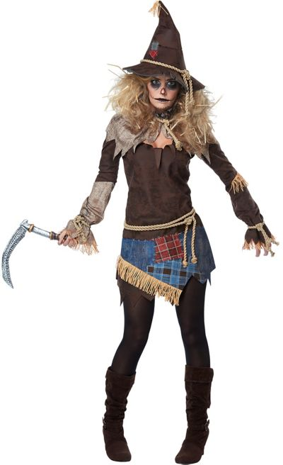 Womens Creepy Scarecrow Costume