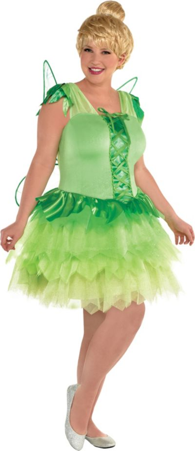 look good shoes sale sale retailer classic shoes Womens Tinker Bell Costume Plus Size - Peter Pan