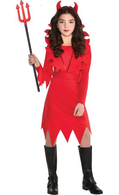 Duivel Kostuum Halloween.Girls Devious Devil Costume Party City