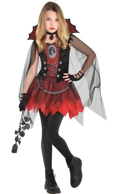 Girls Dark Vampire Costume   Party City