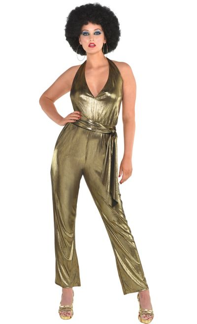 089e9065de42 Womens 70s Disco Jumpsuit
