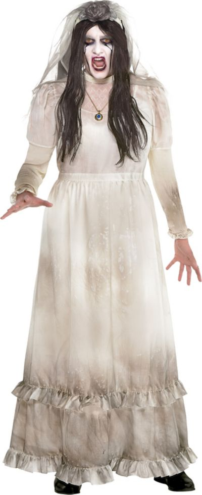 Details about  /The Curse of La Llorona Cosplay Costume White Dress Halloween Cosplay Costume