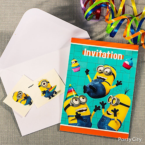 Despicable Me Invite with Surprise Idea