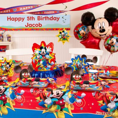 Mickey Mouse Party Table Idea Party City Party City