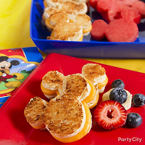 Mickey Mouse Grilled Cheese Idea