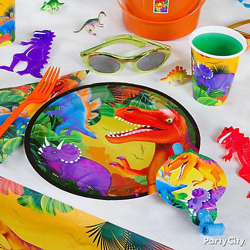Prehistoric Dinosaur Place Setting Idea