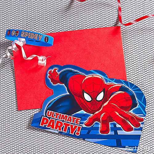 Spider man invite with favor idea invitation and thank you ideas spider man invite with favor idea stopboris Images