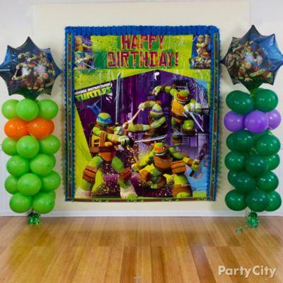 Teenage Mutant Ninja Turtles Birthday Photo Booth Idea Party City