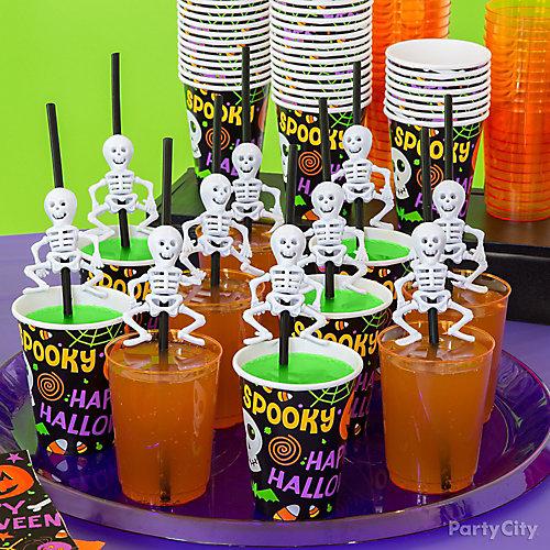 Kid Friendly Skeleton Straws Drink Idea